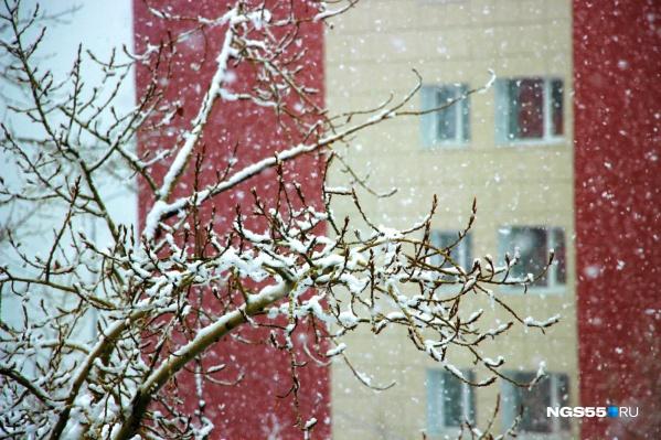 Сегодня в городе тепло и снежно