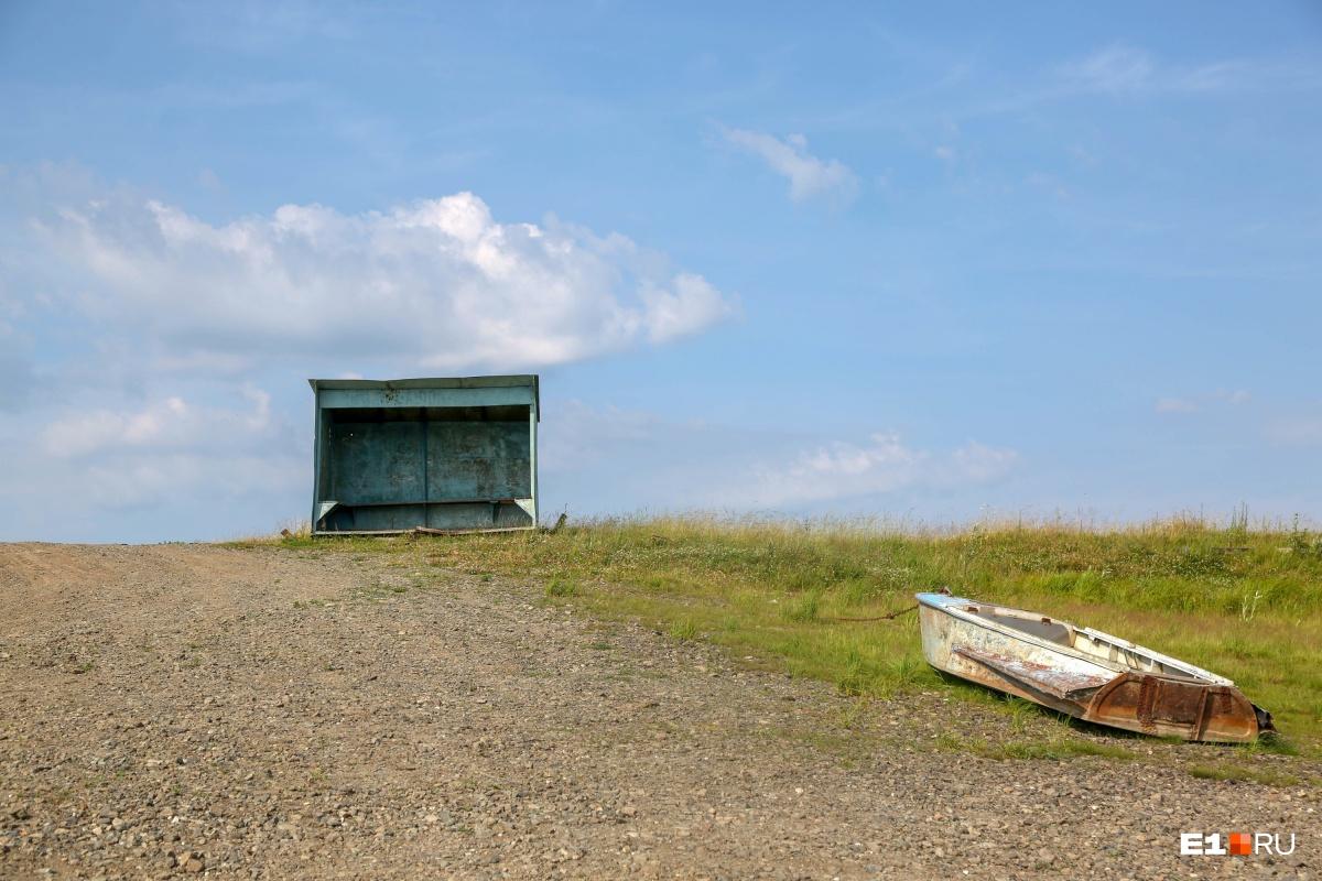 Так выглядит деревенский речной вокзал
