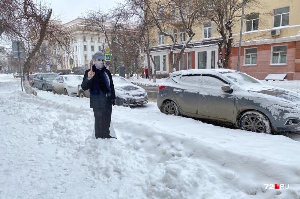 Как город выглядит после непогоды? Смотрим вместе с копией главы Тюмени