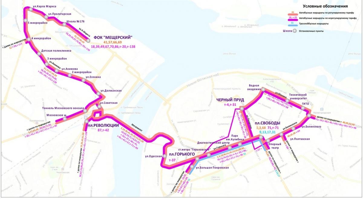 Схема движения автобусов нижнего новгорода фото 245