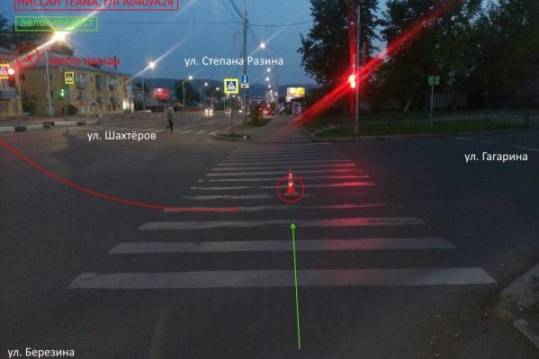 Одна из аварий произошла на пересечении улиц Шахтеров — Гагарина
