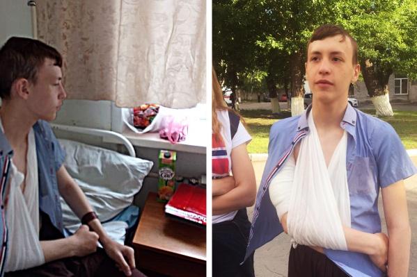 Школьника Юру сегодня днём выписали из больницы