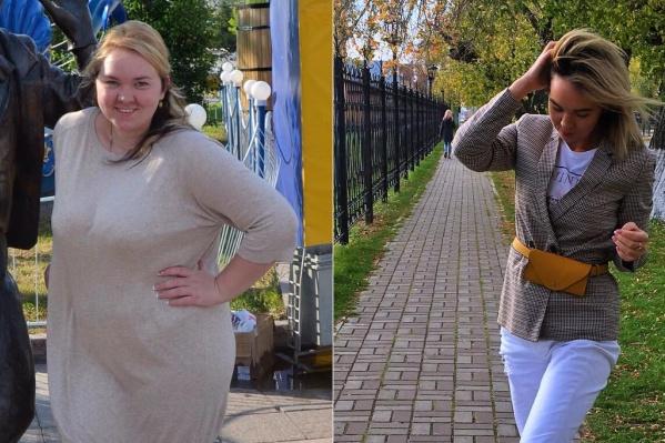Нет, это не два разных человека. Это не фотошоп. Марина сбросила 38 килограммов. Как вам результат?