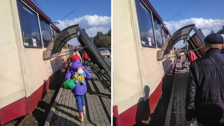Упавшая остановка, «бегущее» ограждение и град размером с гречку: как пошумела непогода в Челябинске