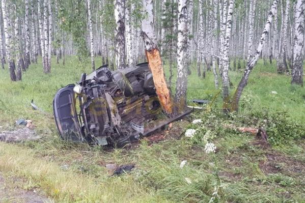 Авария произошла ночью на дорогеЧебаркуль — Мисяш