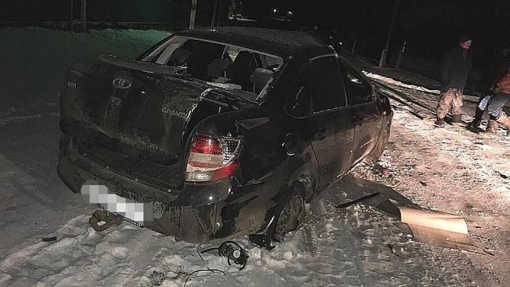 В Башкирии мужчина перевернулся на своем автомобиле, после аварии он не смог выжить