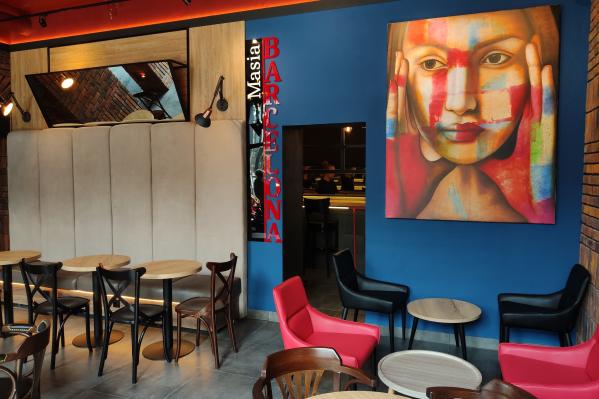 Интерьер в новом кафе VoXKan