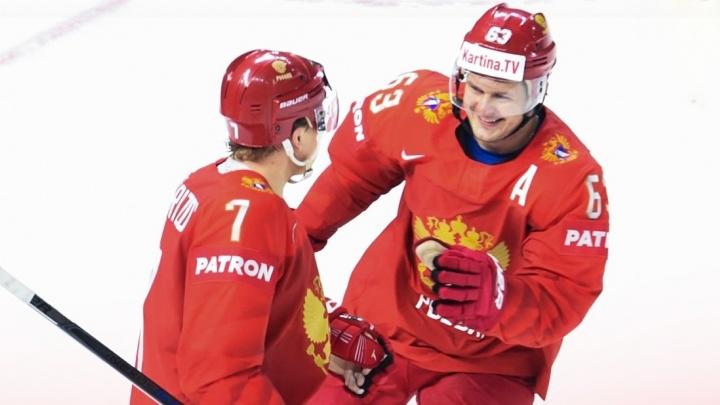 Россия уничтожила Италию на ЧМ по хоккею, забросив в их ворота 10 шайб