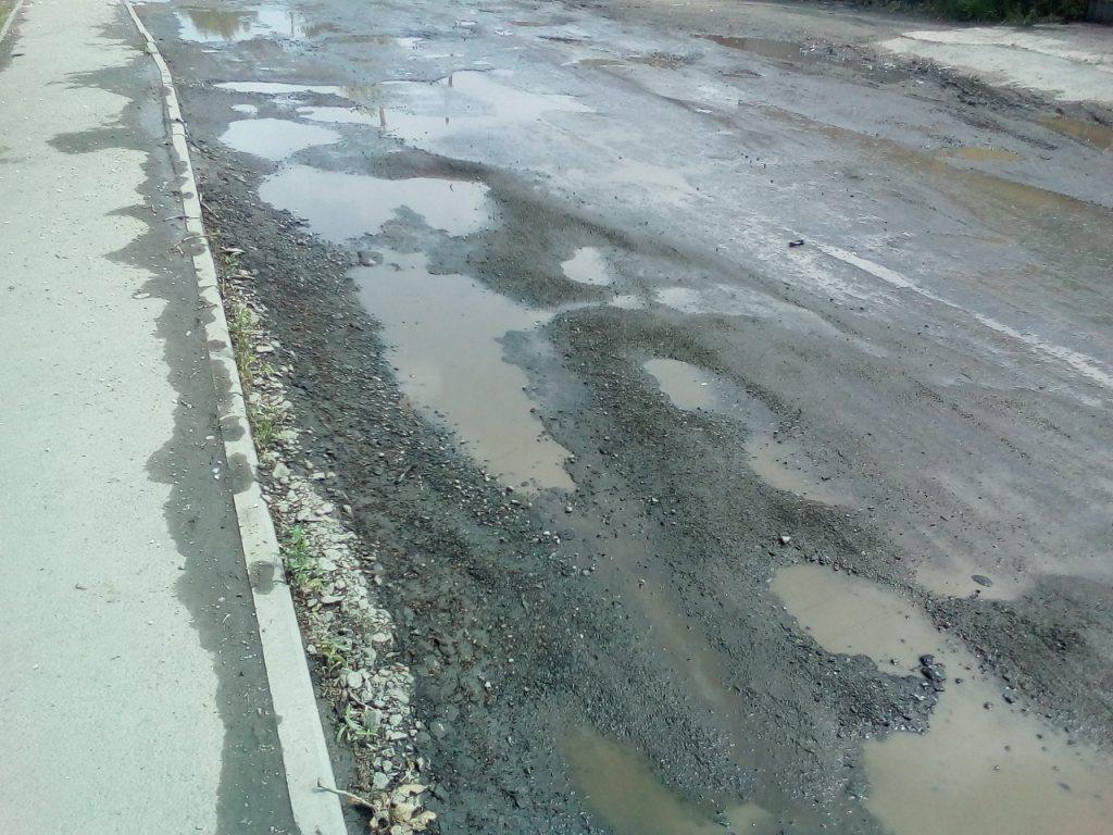 Дорогу отремонтировали в апреле–мае, а так она стала выглядеть к концу июня