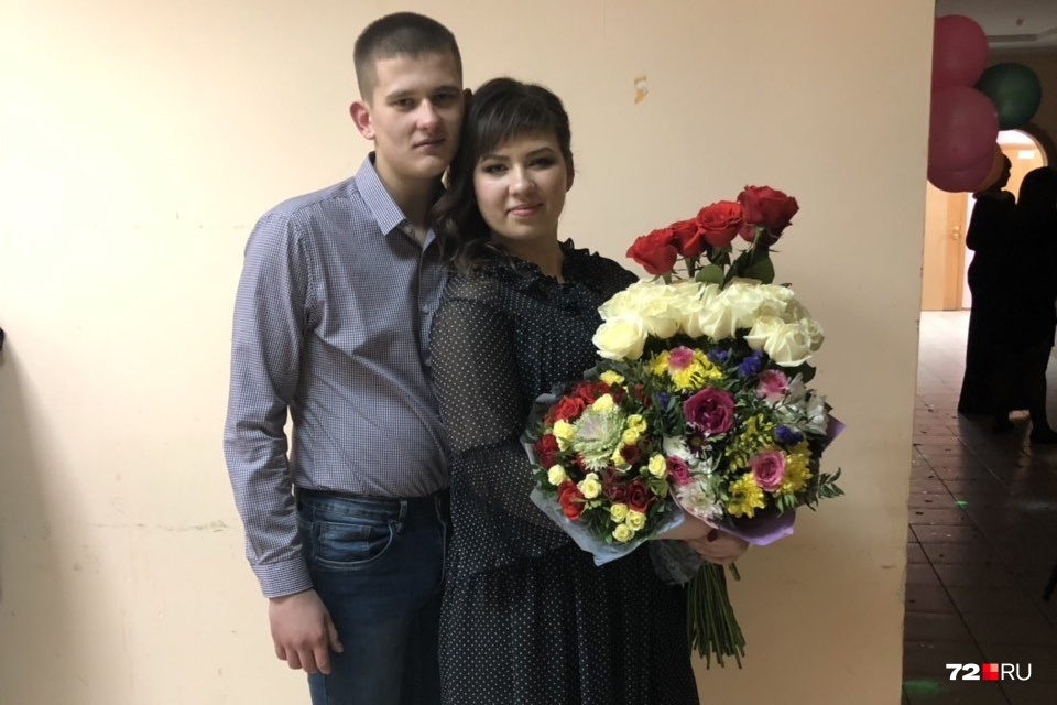Юрий Ференц с сестрой Кристиной