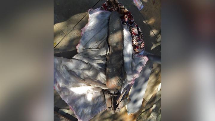 Найденный на Холодильной кусок металла оказался танковым снарядом, а не трубой