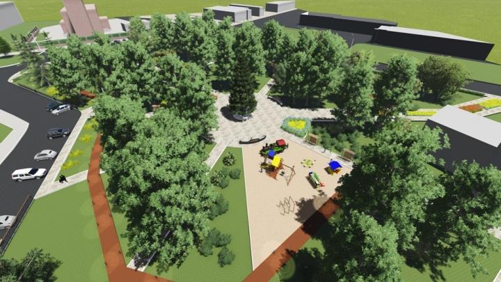 В Омске подготовили первые эскизы благоустройства пяти городских пространств