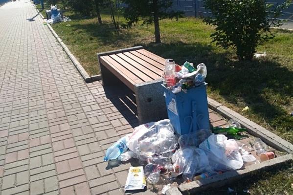 Жители красноярского микрорайона «Белые росы» жалуются на состояние Ярыгинской набережной