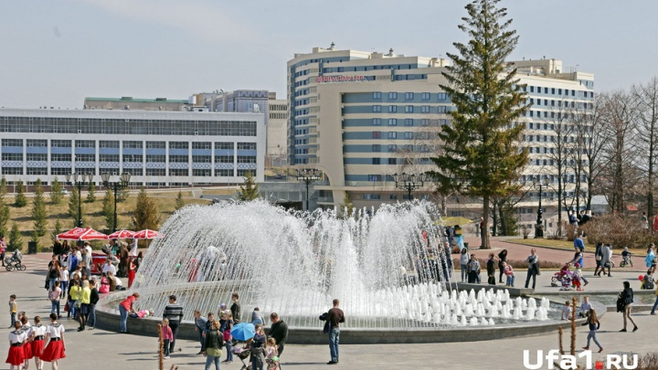 В Уфе забили городские фонтаны