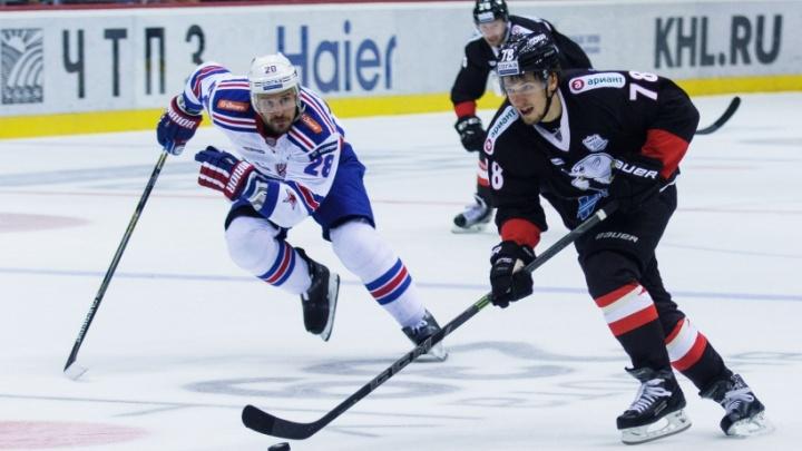 СКА разгромил «Трактор» в матче на челябинском льду