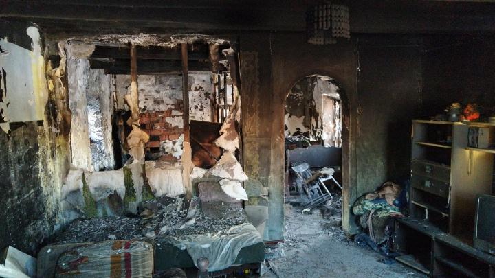 Предварительной причиной пожара, в котором погибли два ребёнка, назвали замыкание электропроводки