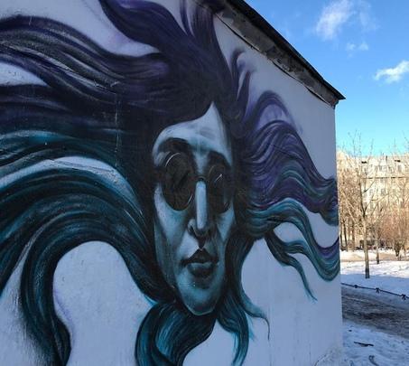 Петербургские художники нарисовали граффити с Егором Летовым