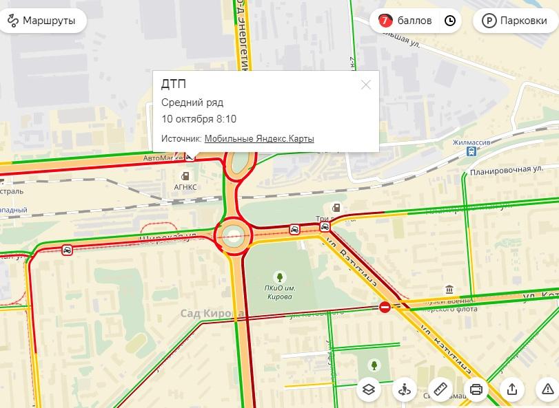 ДТП увокзала вКемерове спровоцировало дорожный затор