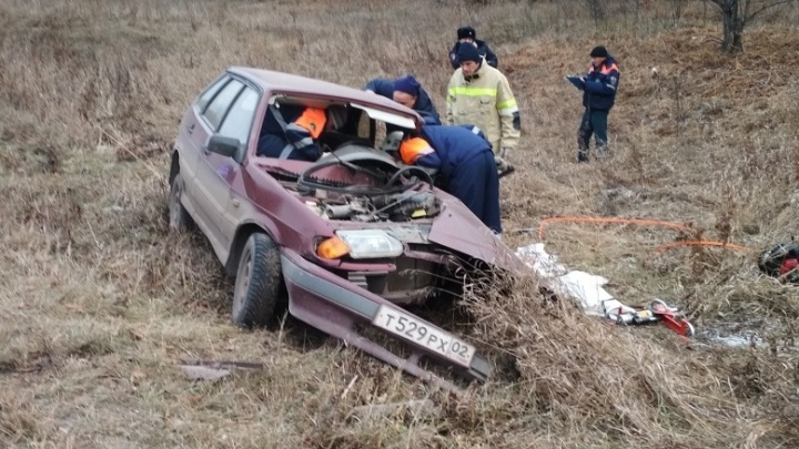 На трассе в Башкирии погиб водитель отечественной легковушки