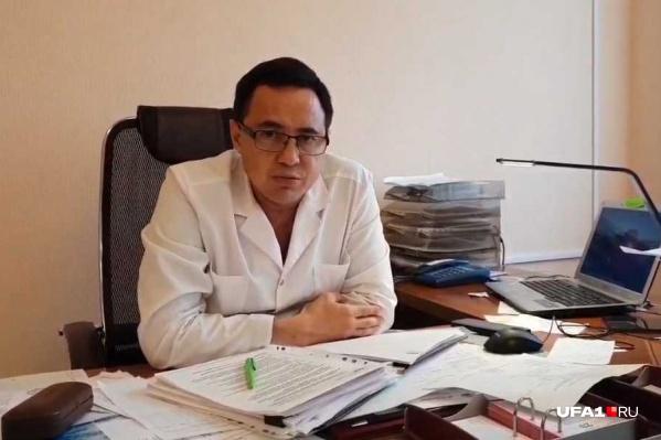 Главный врач ЦРБ Кармаскалинского района Арсен Камалов