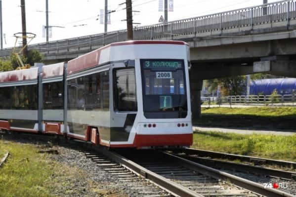 Современный трамвай возил пассажиров в Челябинске всего один день