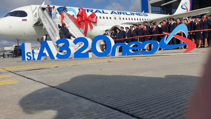 Прямо с завода: изучаем в прямом эфире новенькийAirbus A320neo «Уральских авиалиний»