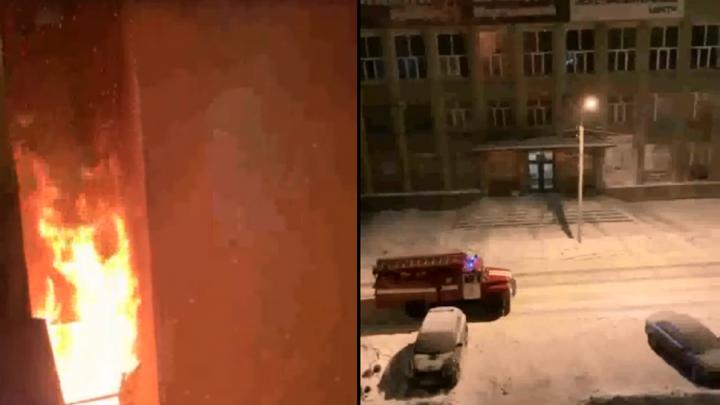 Ночью в доме на Пушкина загорелся балкон — пожарные спасли 23 человека