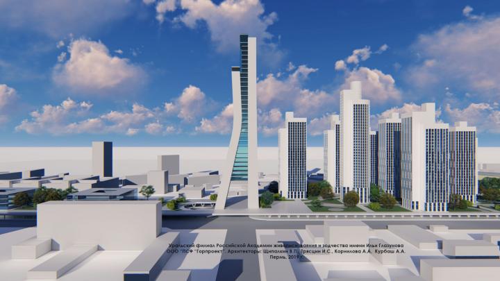 Небоскребы вместо площади: пермские архитекторы сделали видеоконцепцию застройки Центрального рынка