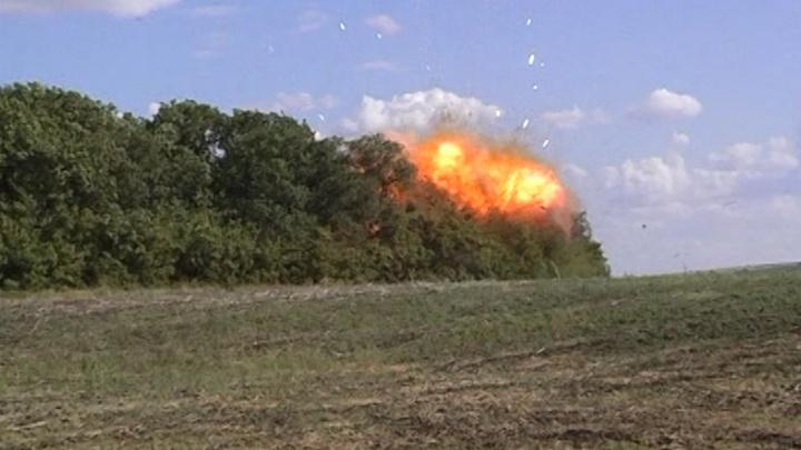 Сотрудники ФСБ взорвали минный арсенал в лесу в Самарской области