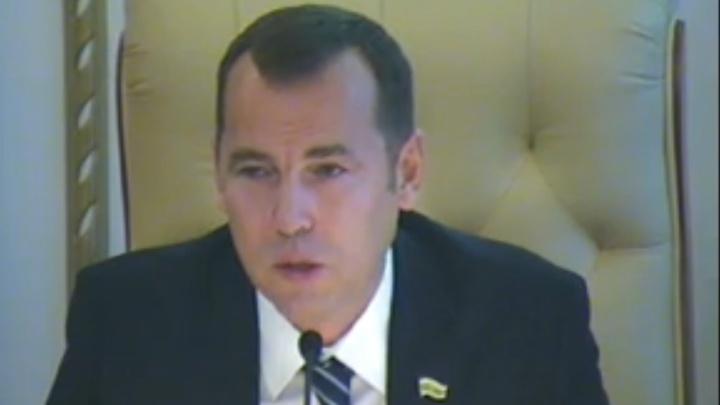 «Надо работать в связке»: Шумков выступил на заседании Курганской областной думы
