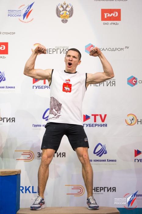 А это муж Елены. Дмитрий Тимофеев занял на Кубке третье место