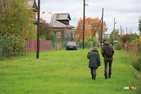 Траву в деревне сейчас убирают газонокосилками, а раньше это делали коровы