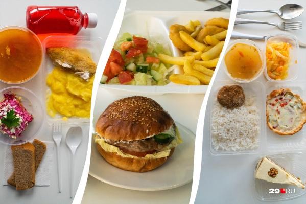 В каждом из трех обедов были вкусные блюда, но где-то подкачала доставка, а где-то показалась высокой цена