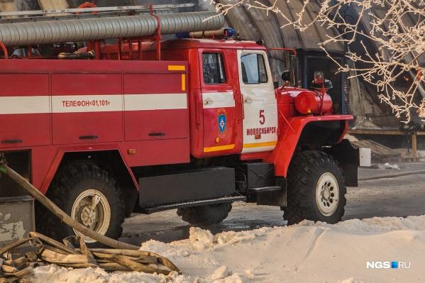 По данным МЧС, пострадавших в пожаре нет