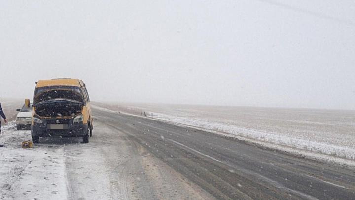 В Башкирии перевернулась «Газель» с пассажирами