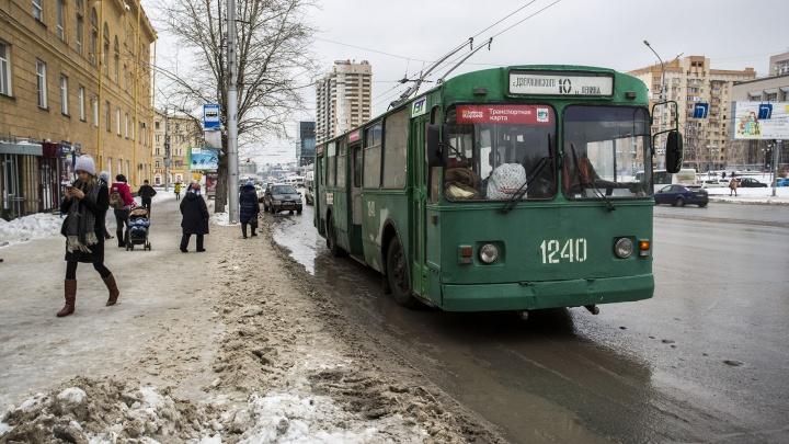 Троллейбус № 10 решили пустить по Красному проспекту