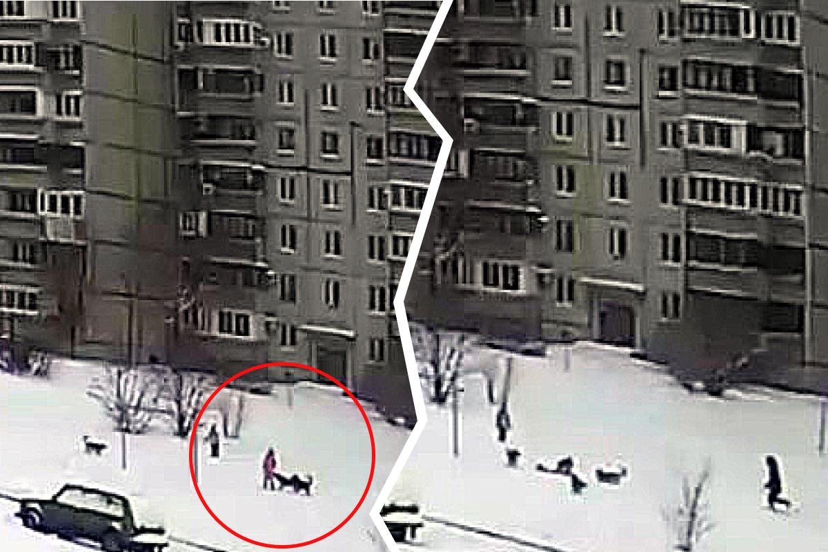 Дети гуляли недалеко от жилого дома