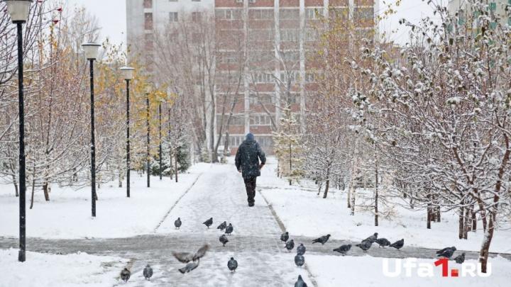 На выходные синоптики Башкирии прогнозируют снег и гололед