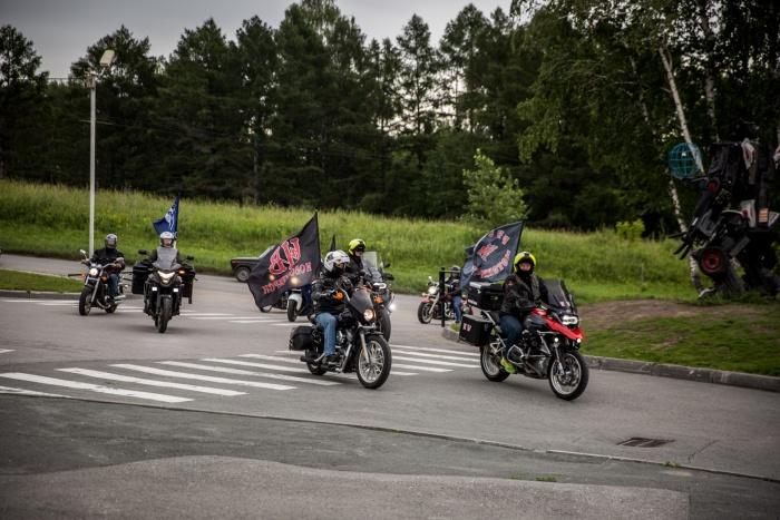 Участники мотопробега