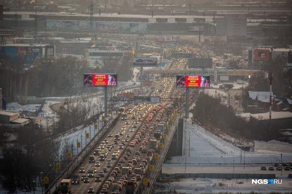 Движение затруднено на основных магистралях города