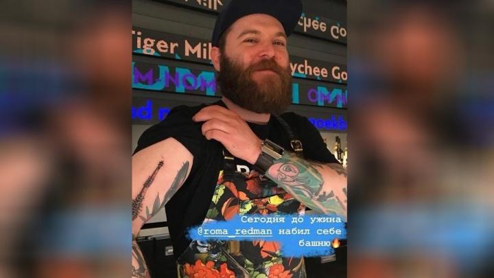 «У меня традиция — набивать символы городов»: шеф-повар из Питера сделал татуировку с телебашней