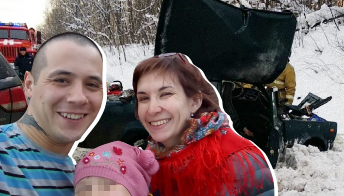 ДТП, в котором на М-5 в Челябинской области погибла пара и тяжело ранена их дочь, попало на видео