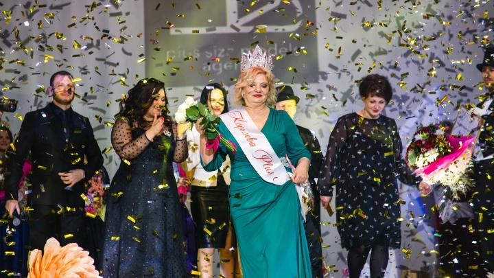 Дефиле, гарем с верблюдом и фламенко: в Омске прошёл конкурс красоты для омичек с пышными формами