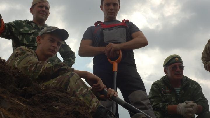 В Ростовской области поисковики нашли останки советского бойца