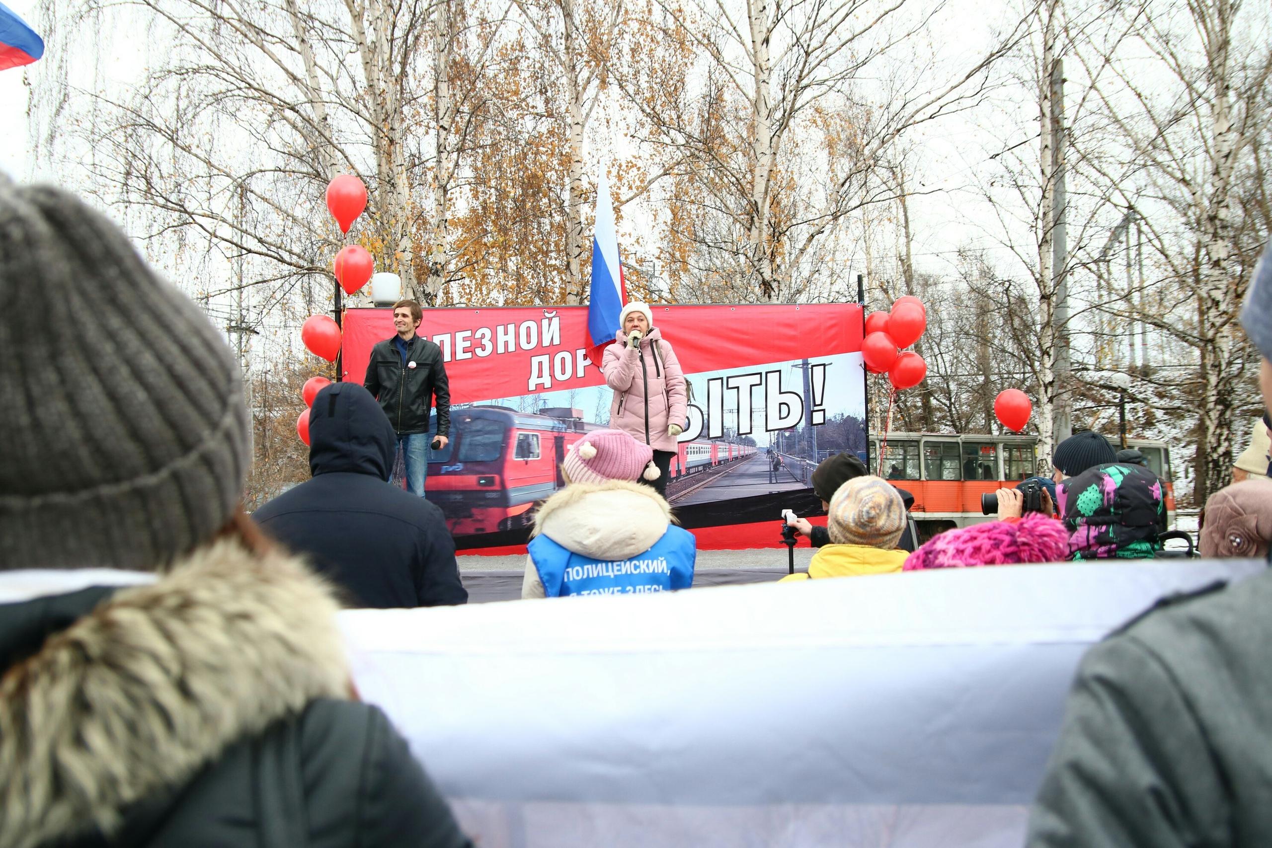 Анастасия Мальцева специально приехала на митинг на автомобиле— чтобы посмотреть, сколько займет дорога от Молодежной