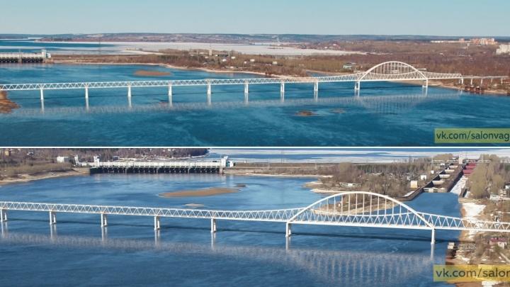 В Сети появились эскизы нового железнодорожного моста через Каму