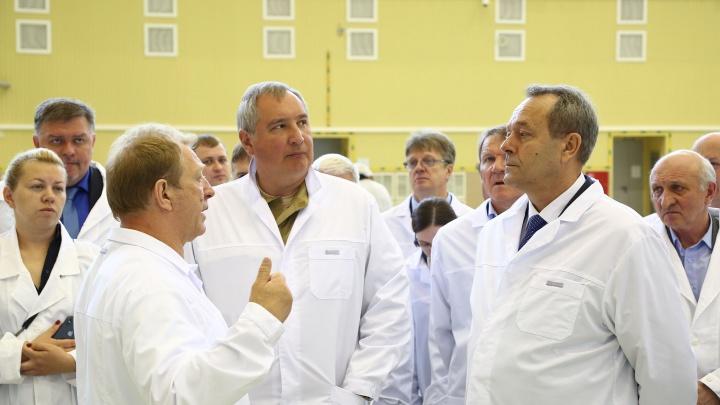 «Я от омичей жду максимум усилий»: Рогозин побывал на омском «Полёте» и бросил вызов Илону Маску