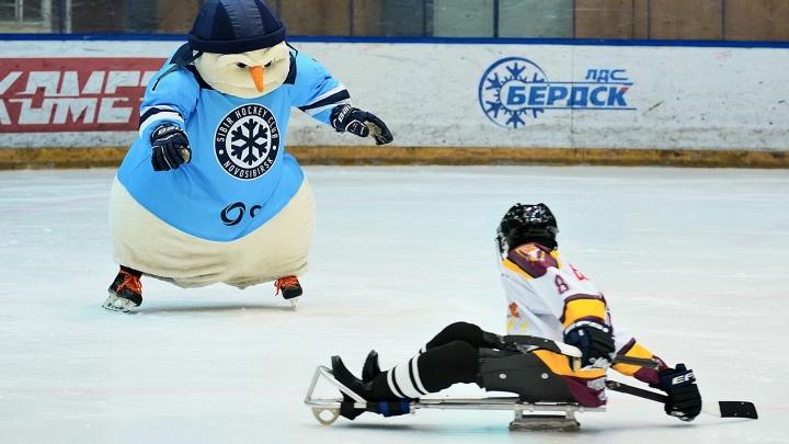 Хоккеисты«Сибири» провели матч с особенными детьми
