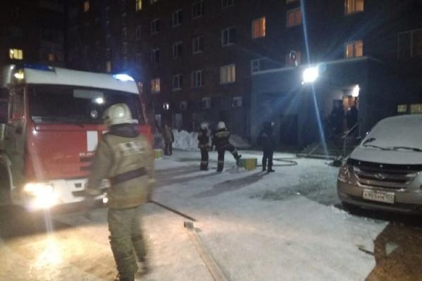 Пожарных вызвали на место происшествия