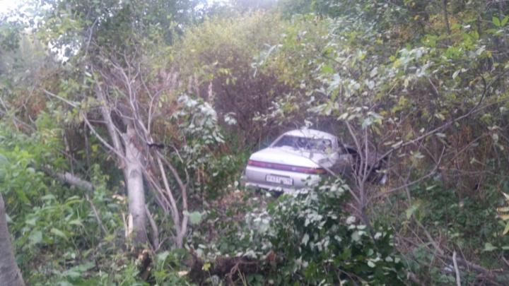 В Берёзовском пьяный водитель Toyota вылетел с трассы и врезался в дерево